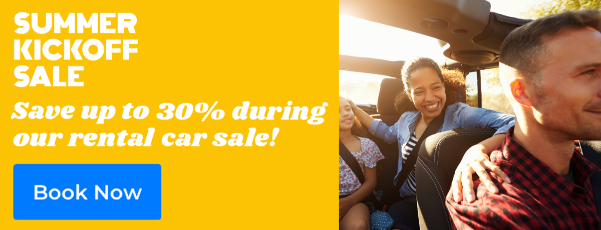 Save up to 30% on rental cars!